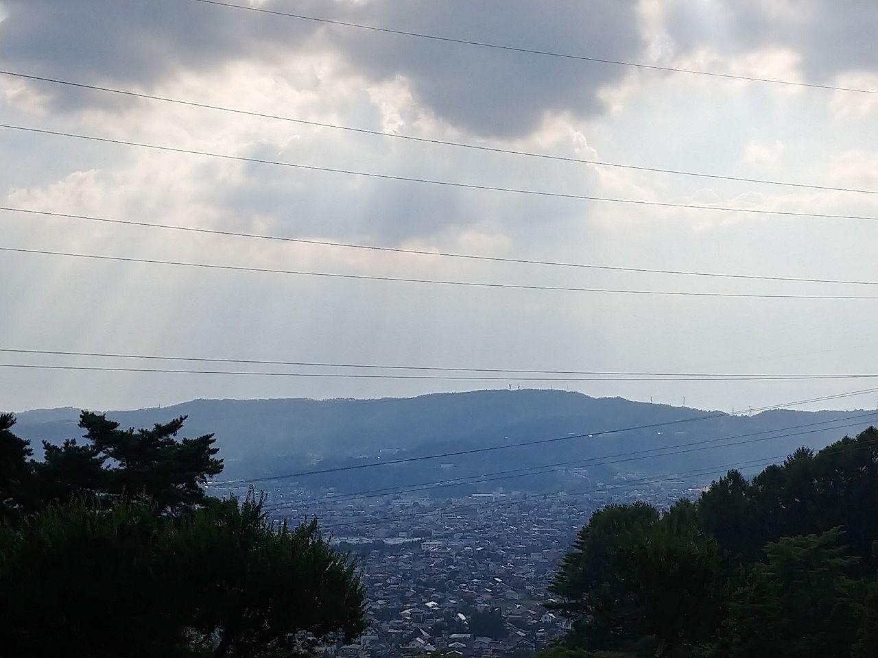 水月霊園の高台からの景色です