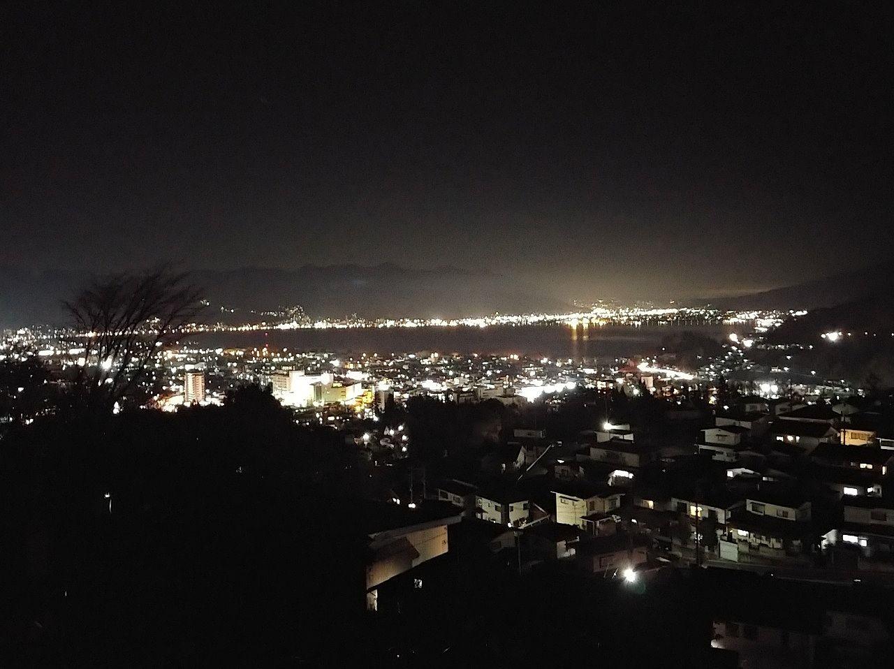 やまびこから見る諏訪の夜景