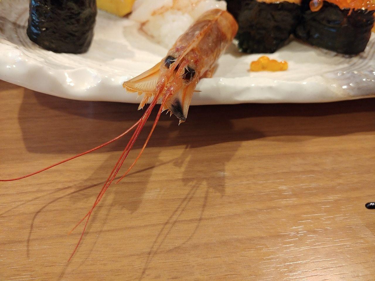 お寿司屋さんのえび