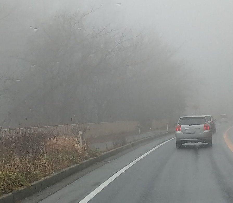 塩嶺 すごい霧