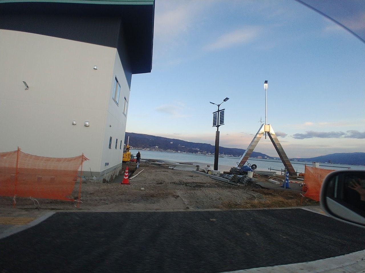 下諏訪町で水上防災拠点・艇庫の工事進む