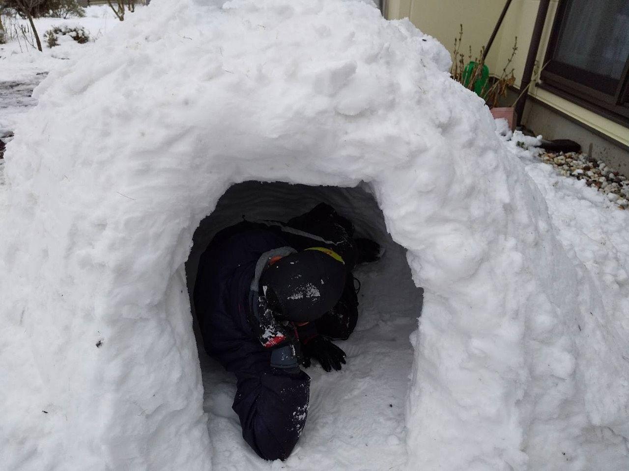 雪遊びで発散✩ なごり雪を楽しむ
