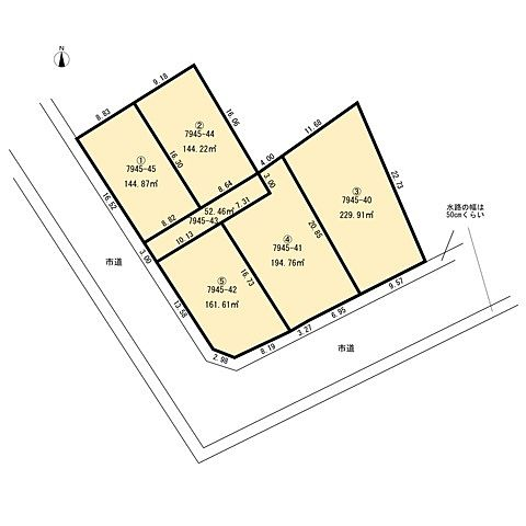 新規分譲地5区画