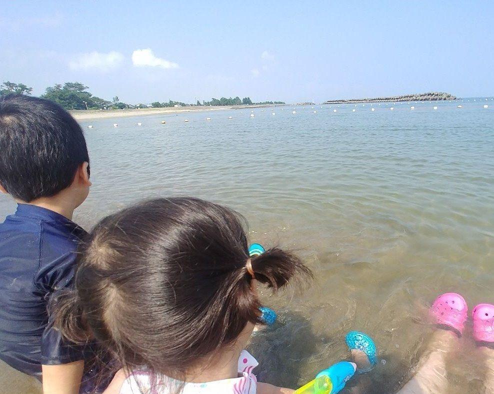 海水の気持ちよさを感じました