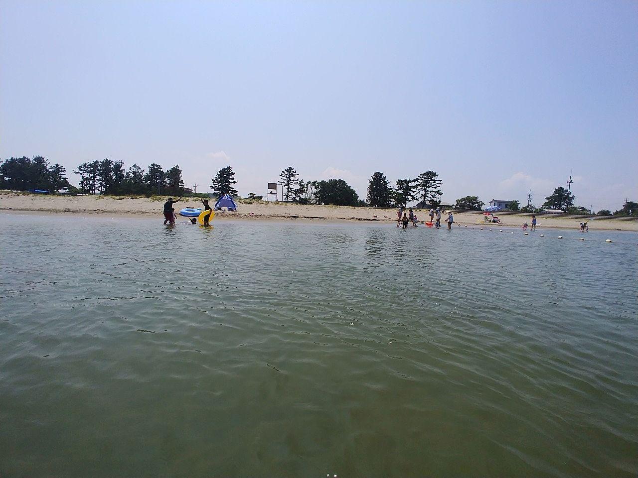 八重津浜海水浴場を楽しみました