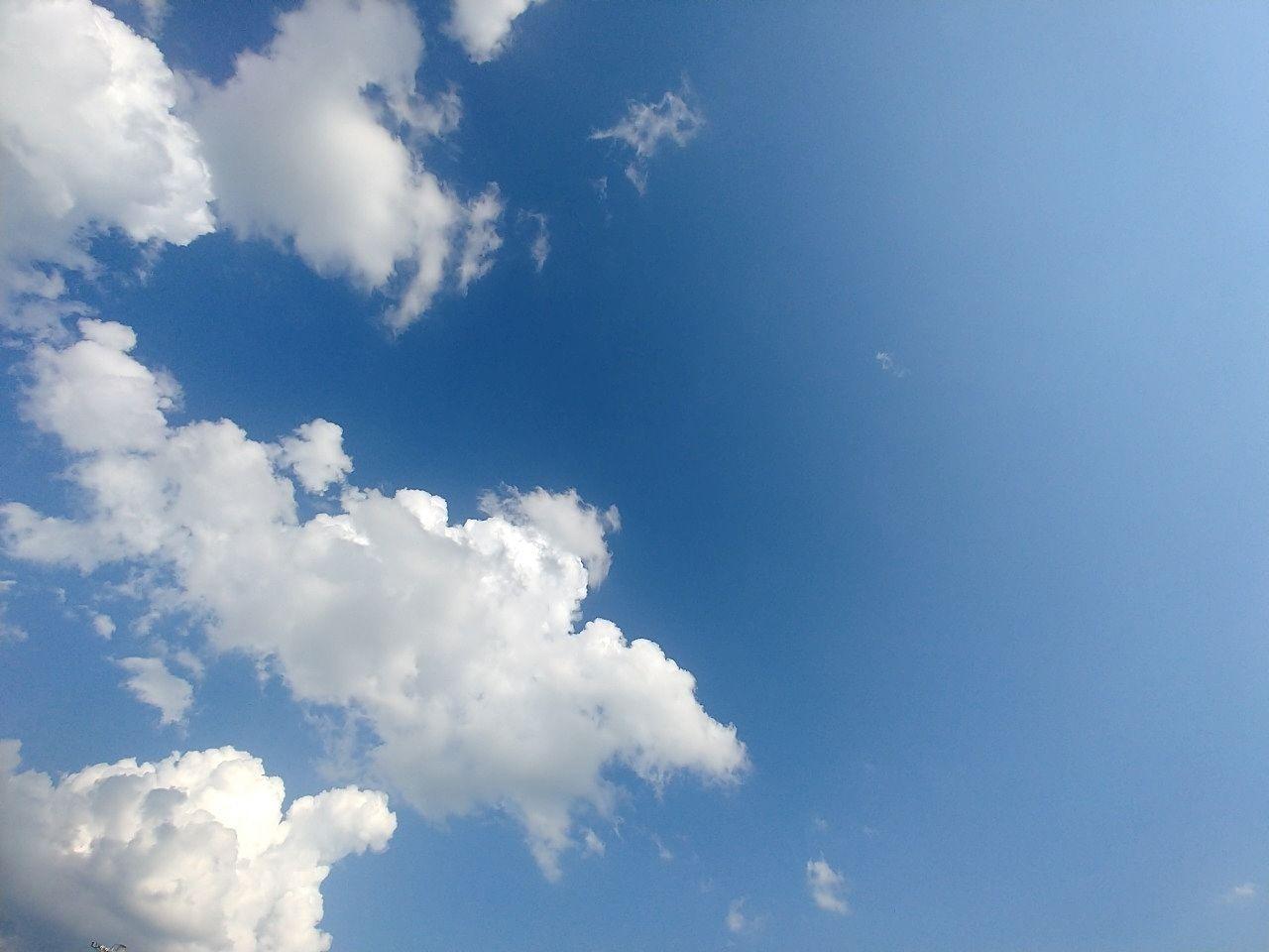 日中の青空です